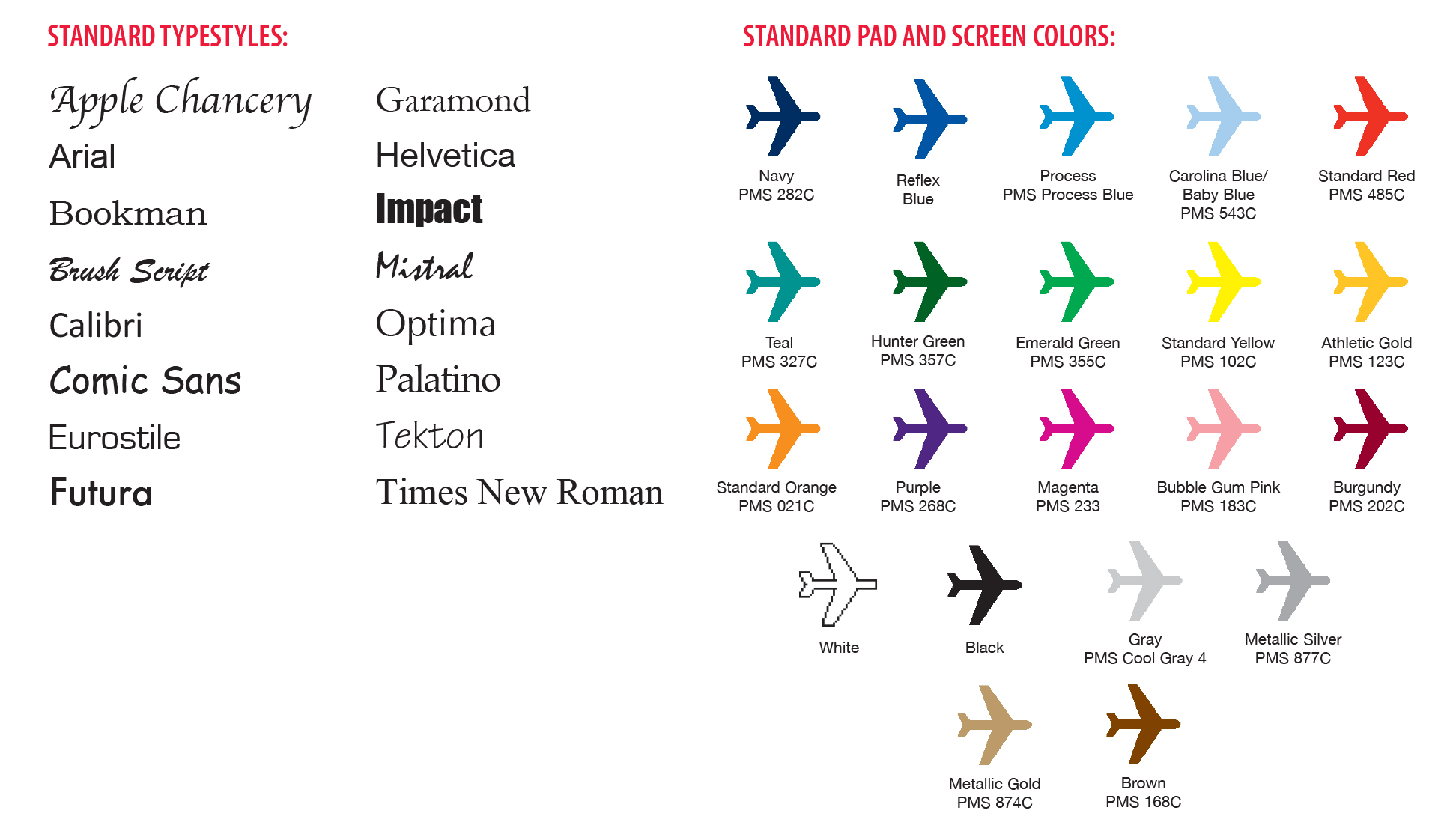 General information note jetlines standard colors are the closest approximation to actual pms colors listed below the appearance of each ink color will vary based on item reheart Gallery