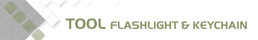 Tool, Flashlight, Keychain