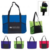 Jumbo Tradeshow Tote with Front Pockets