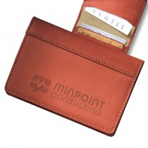 Fire Island Business Card Case (Sueded Full-Grain Leather)