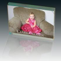 Atrium™ Glass Large Desk Photo Frame