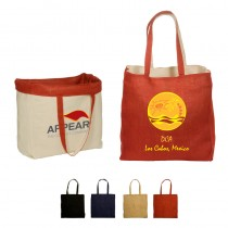 Reversible Jute/Cotton Tote