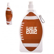 HydroPouch!™ 22 oz. Football Collapsible Water Bottle - Patented