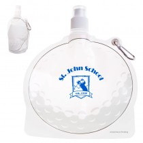 HydroPouch!™ 24 oz. Golf Ball Collapsible Water Bottle - Patented