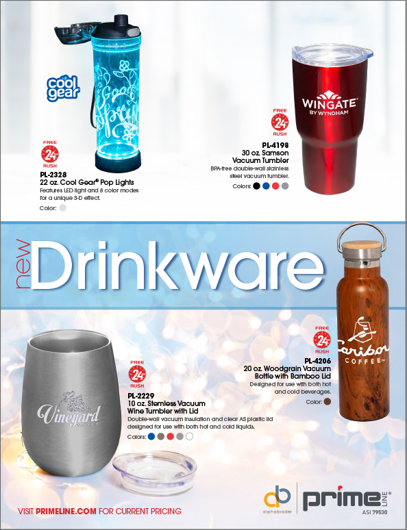 019 High End Drinkware 4p