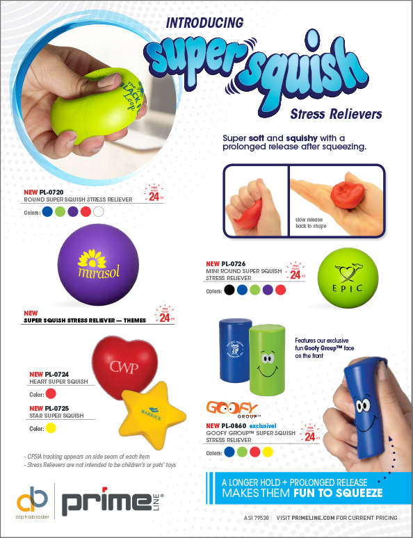 019 Super Squish Stress Relievers 2p