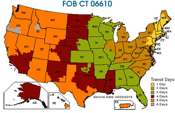 FOB CT transit map