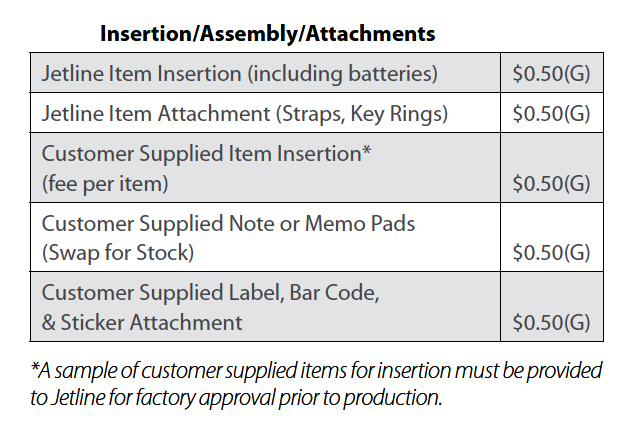 Insertion Assembly Pricing